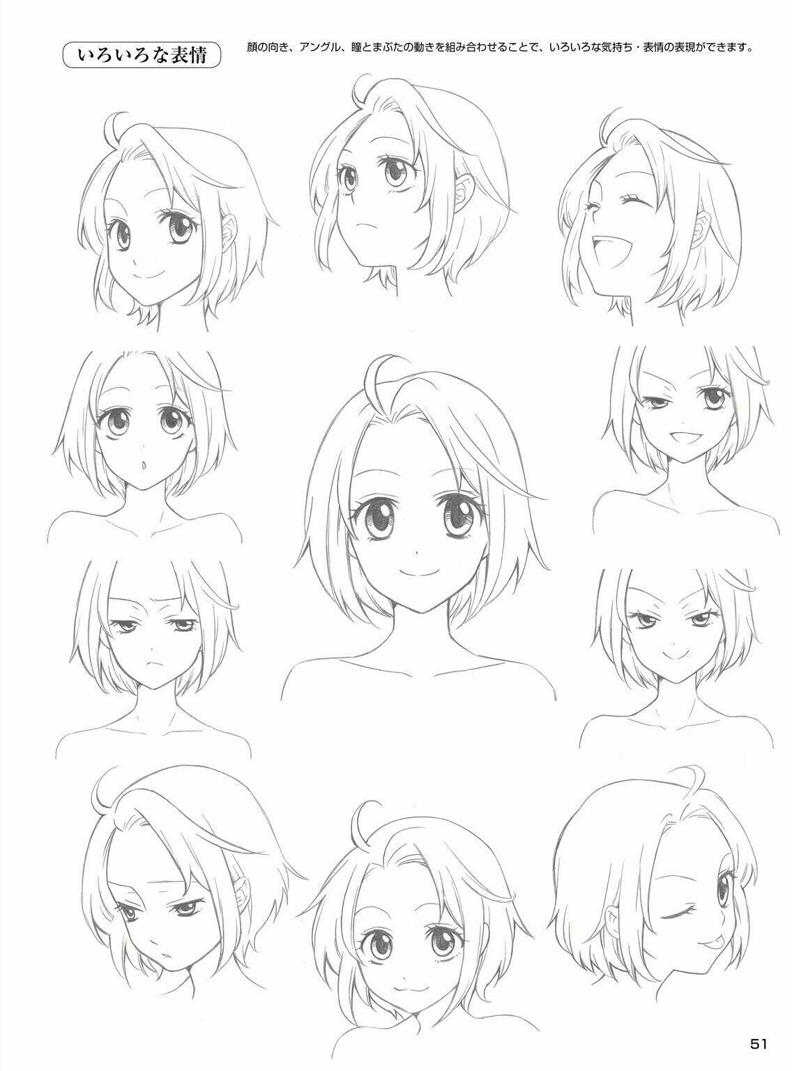Expression Reference Manga drawing, Anime expressions