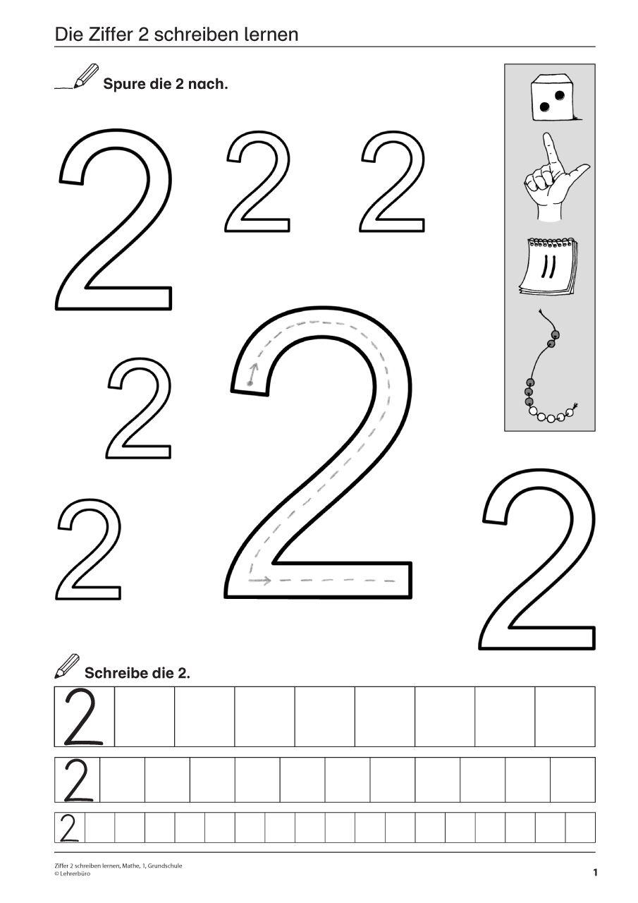 zahlen schreiben lernen vorschule | ausmalbildkostenlos.com ...