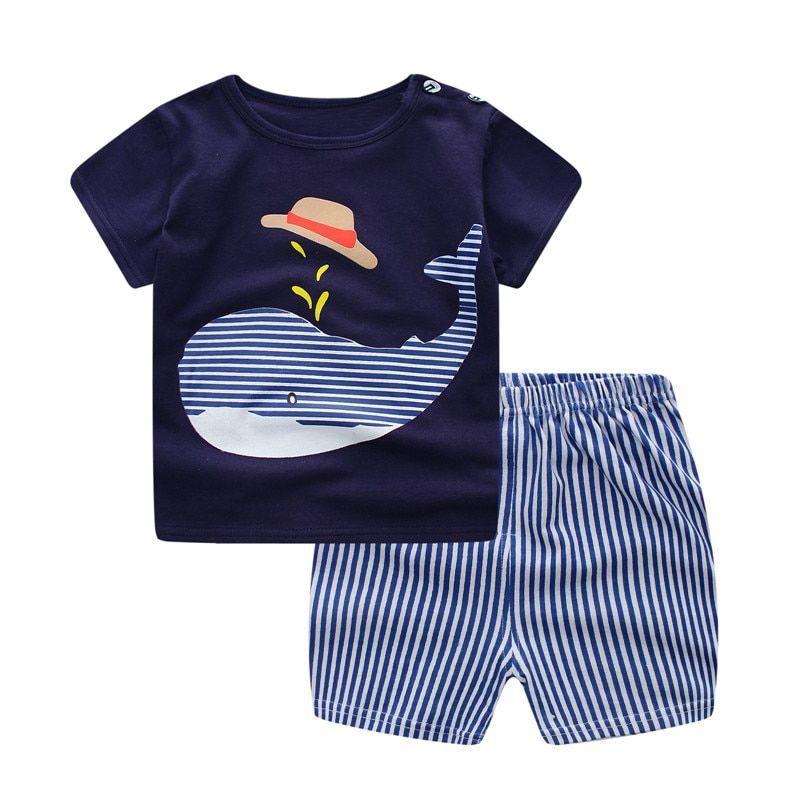 15faa7b75bef5 Baby Boy Clothes Summer Newborn Baby Boys Clothes Set Cotton Baby ...
