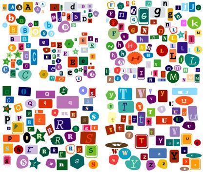Alphabet4 crafts decoupage diy pinterest fonts free and magazine cut out font spiritdancerdesigns Images