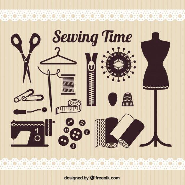 Elementos de tiempo de coser Vector Gratis | All purpuse ideas ...