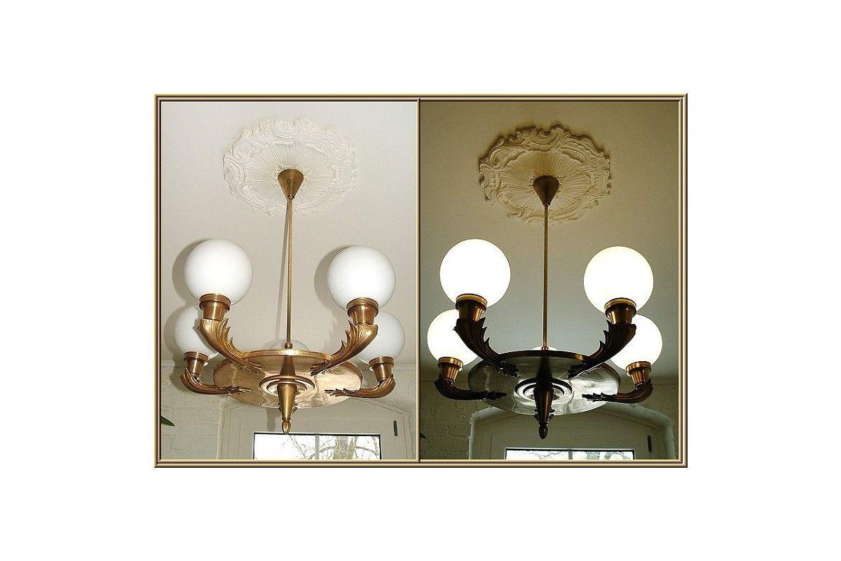 Antike Lampen Kronleuchter ~ Antike decken lampe kronleuchter lüster orig. um 1920 original