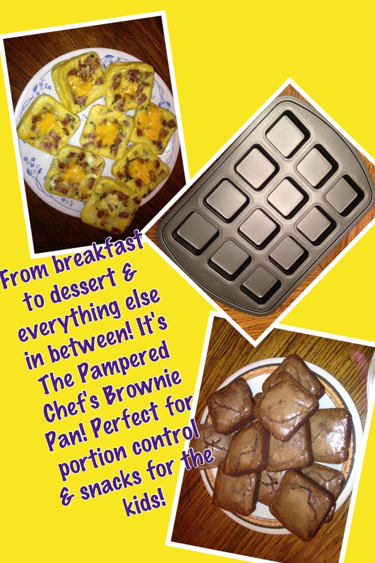 The Pampered Chef's Brownie pan. Www.pamperedchef.biz/kimberlyt