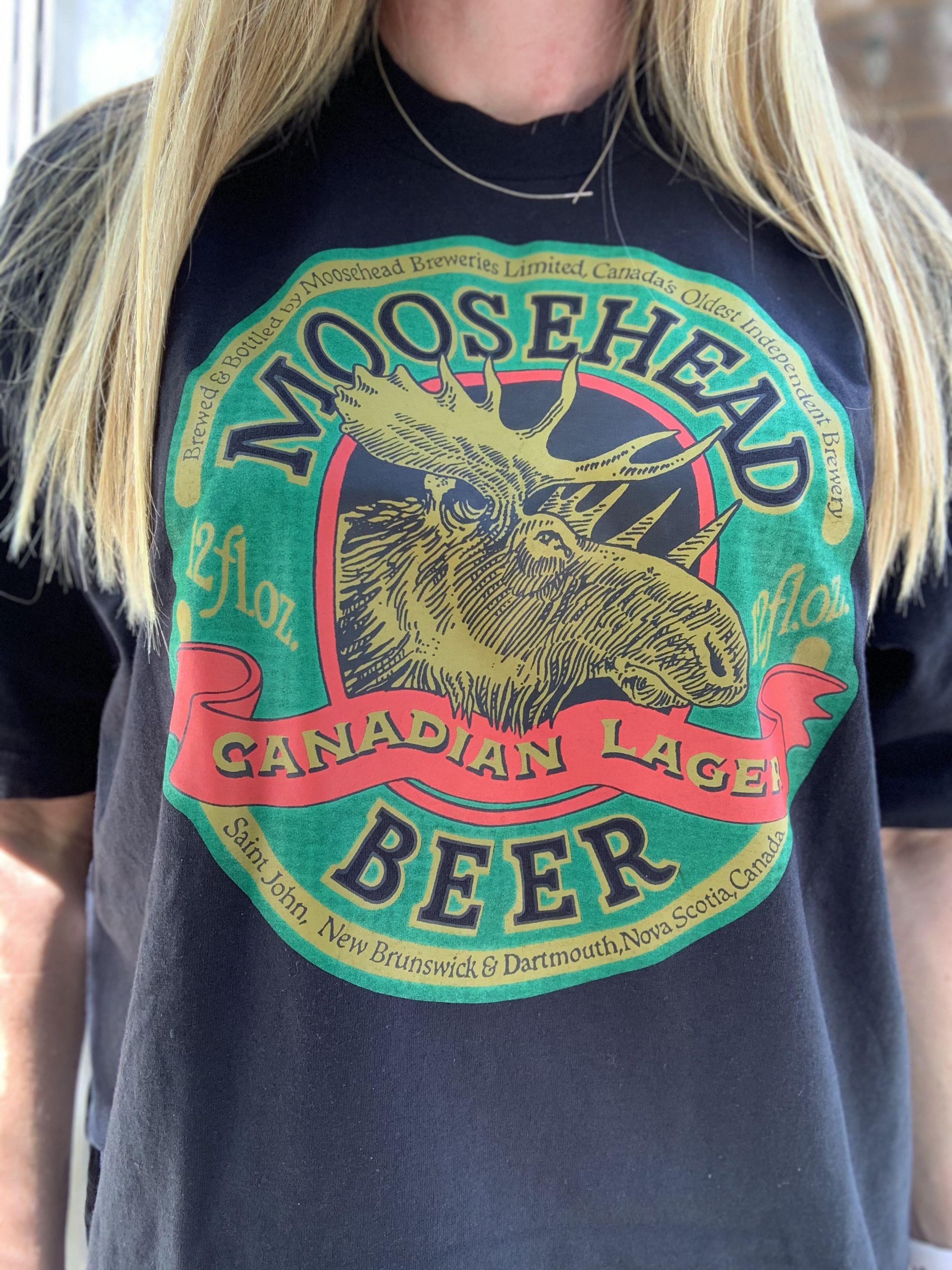 Sold Vintage Moosehead Beer T Shirt Beer Tshirts Vintage Clothing Men Moosehead Beer