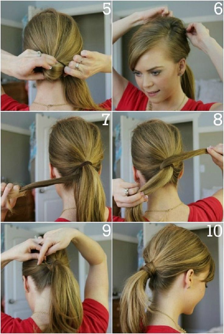 A Cute Simple Ponytail That Looks Good With About Any Occasion Casual Wear Working Out Going For A Job In Long Hair Styles Diy Hairstyles Ponytail Tutorial
