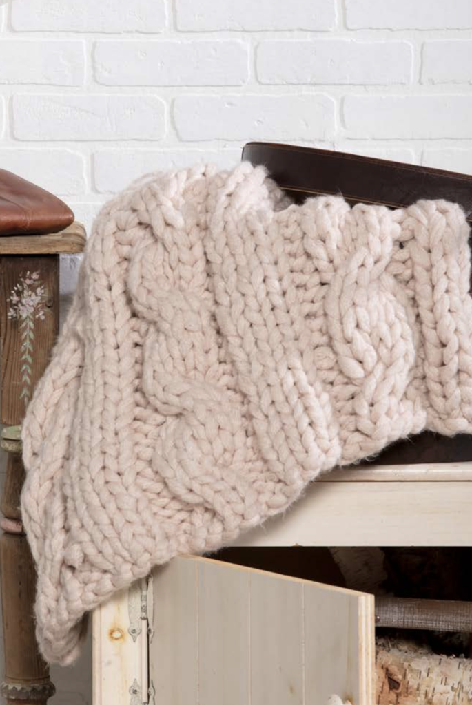Thick Chunky Cable Knit Blanket Knitting Pinterest Cable