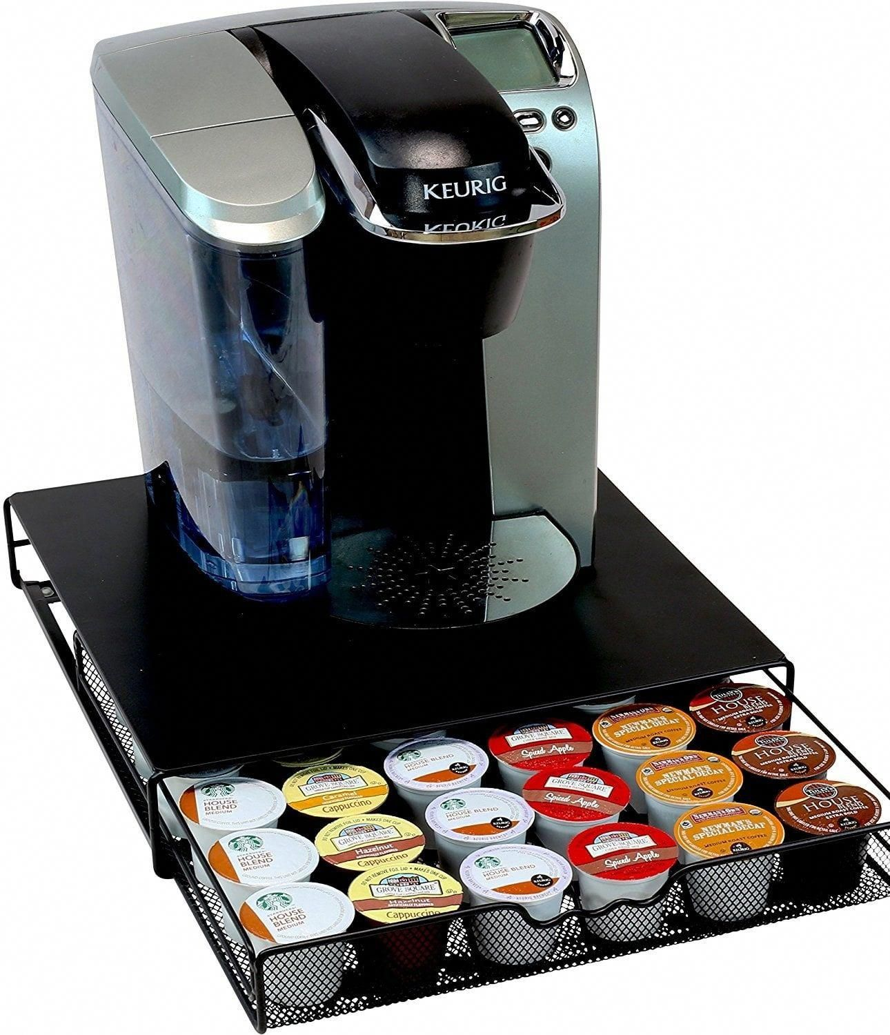 The Tray Slides Easily In And Out Even With Weight Of Keurig Filled Water Another Coffee Pot