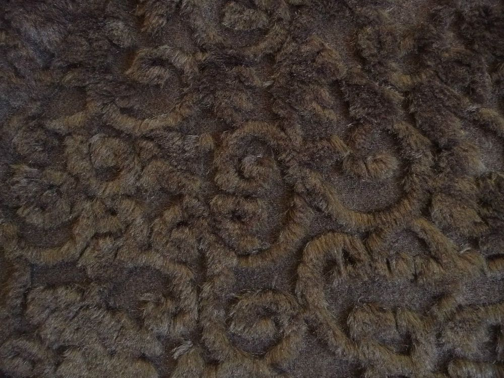 Polyester Modacryl Wollstrick Schwarz 41,90€//1m Fellimitat Wolle