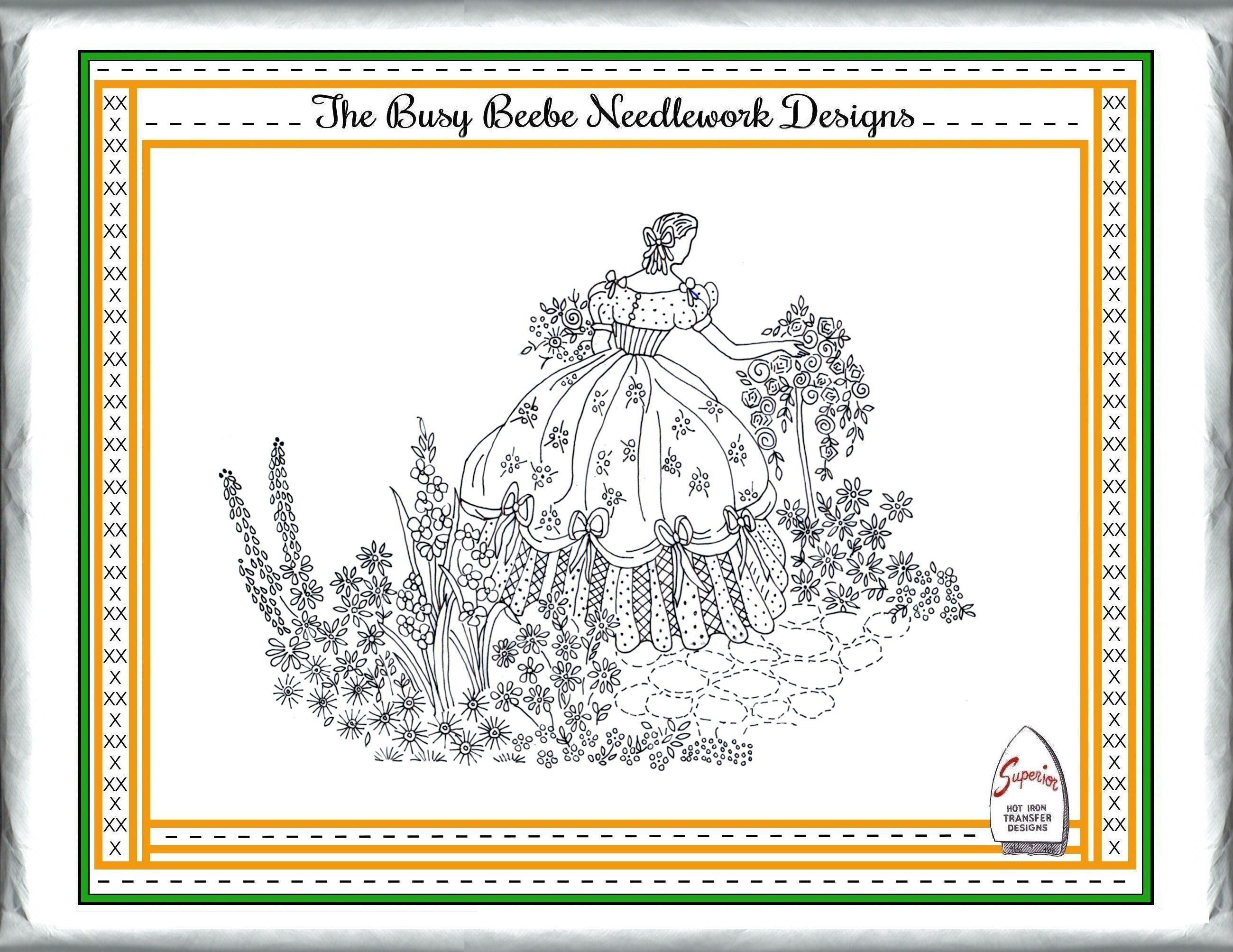 Crinoline lady embroidery google search doll pinterest