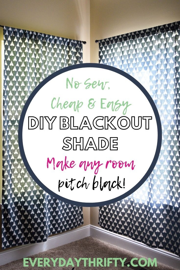 Diy no sew blackout roller shade in 2020 blackout shades