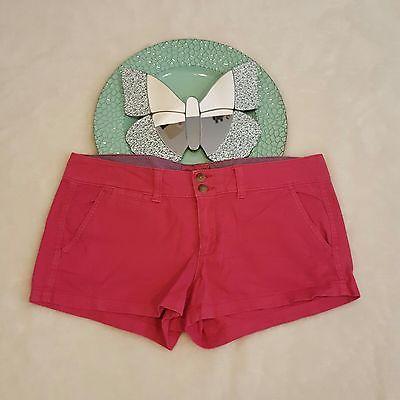 Womens American Eagle Stretch Pink Chino Short Shorts Size 6   eBay Shopping