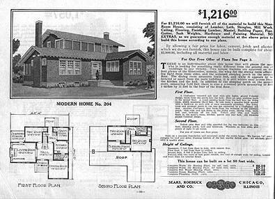 Sears 204 1911 1912 1913 204 Vintage House Plans Bungalow Style House House Plans