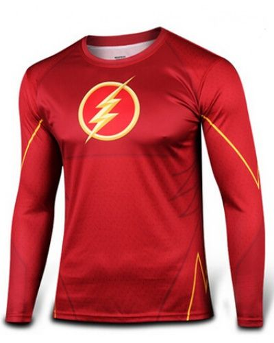 d6a64d500 The flash long sleeve t shirt for men red Riding Sportswear Cycling Bicycle