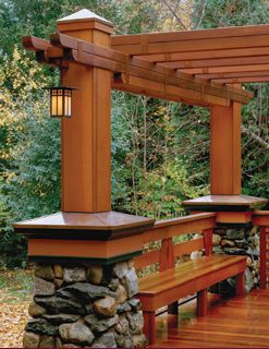 Pergola In The Back Left Corner With Similar Beams Would