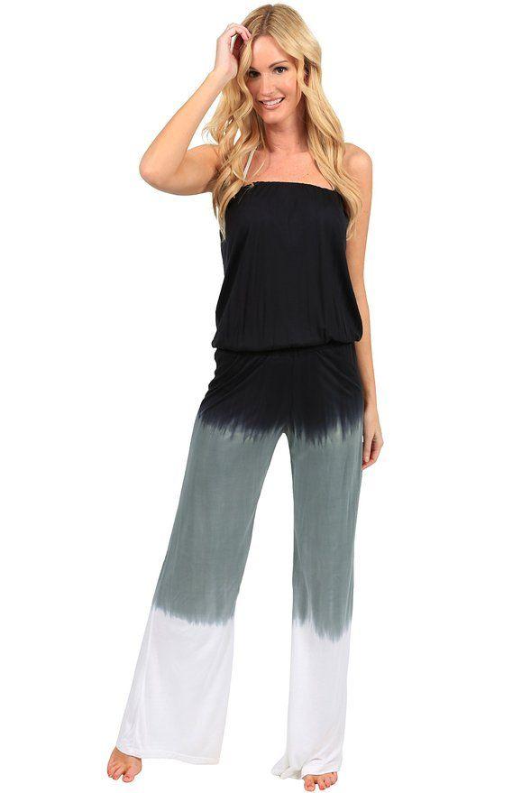 Summer Jumper Long Tie Dye Strapless Beach Romper Playsuit Jumpsuit:Summer Fashion: Spring Outfits:Casual Outfits:Beach Outfits:Cute Outfits