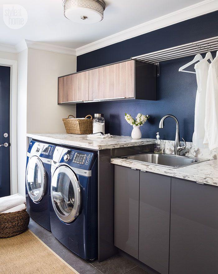 Modern rustic laundry room lavander a pinterest for Amoblamientos para lavaderos