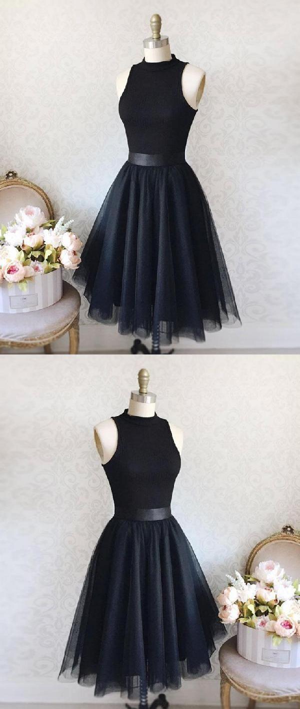 Customized trendy black prom dresses prom dresses short prom