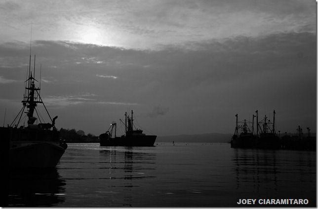 Gloucester Harbor December 2, 2012 3:57PM Black and White