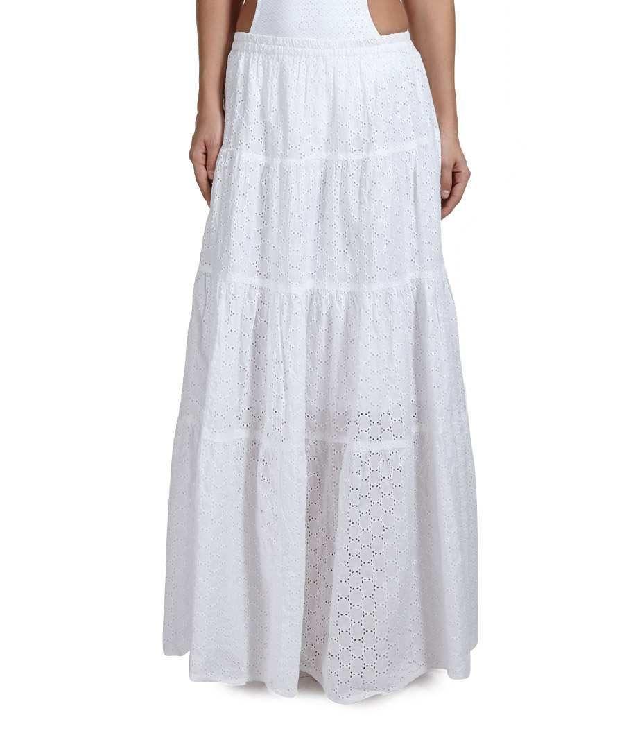 deafe6847d Melissa Odabash Michelle white maxi skirt, Designer Skirts Sale, Melissa  Odabash, Secret Sales