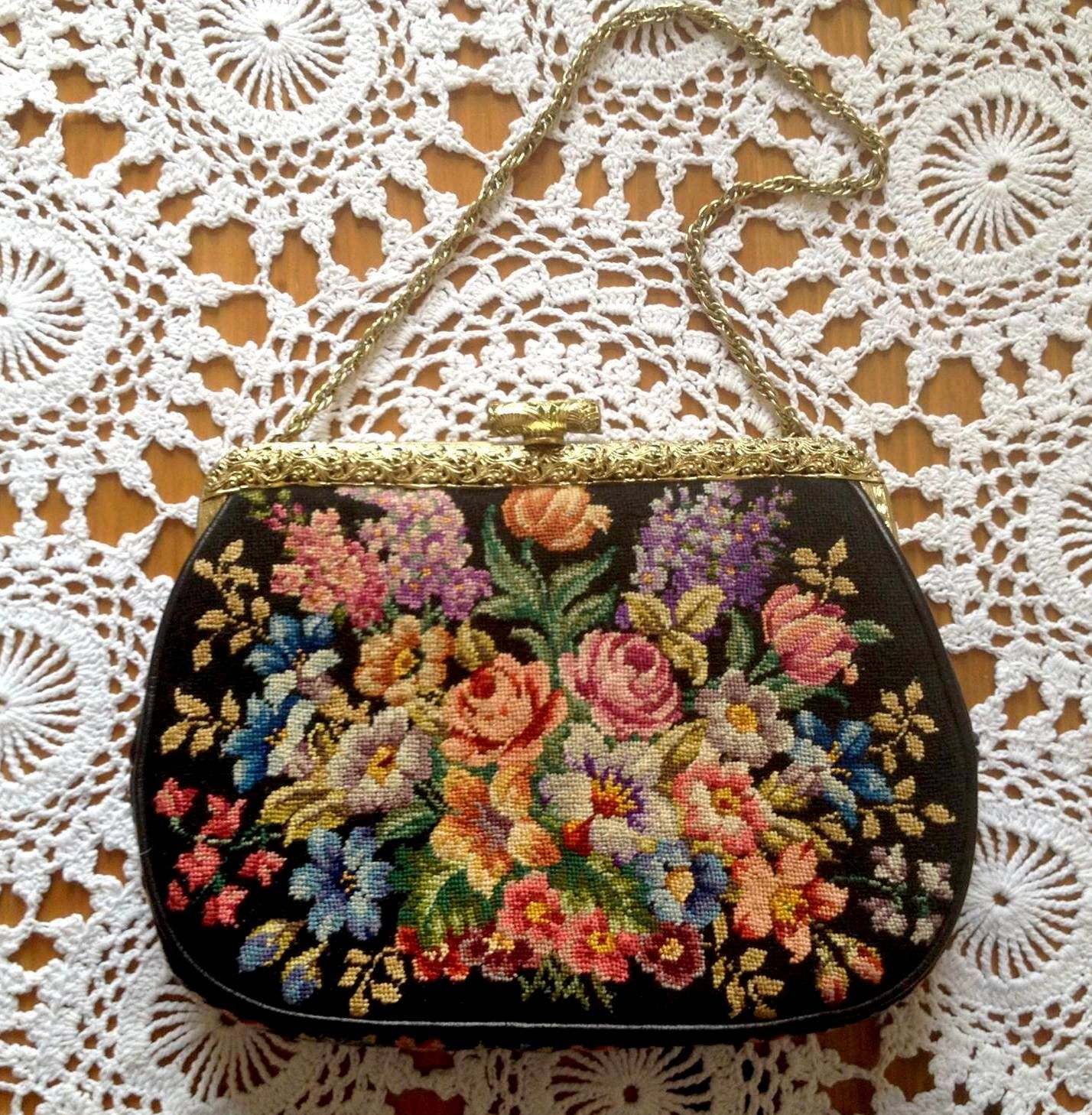 Embroidered vintage pursemy embroidery collection embroidery