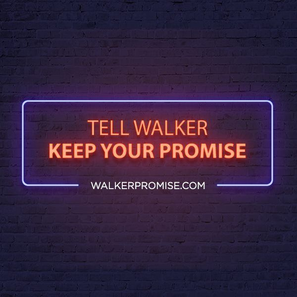 Facebook graphic for Walker Promise, using Las Vegas imagery to remind people about Governor Walker's broken promises to not expand gambling in WI. Let our team bring branding, creative content and digital strategy to your campaign or cause. Learn more about how to work with Harris Media here: www.harrismediallc.com