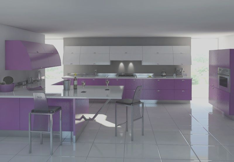 13 Unique Purple And Grey Kitchen Ideas Image In 2020 Purple Kitchen Purple Kitchen Furniture Purple Kitchen Interior