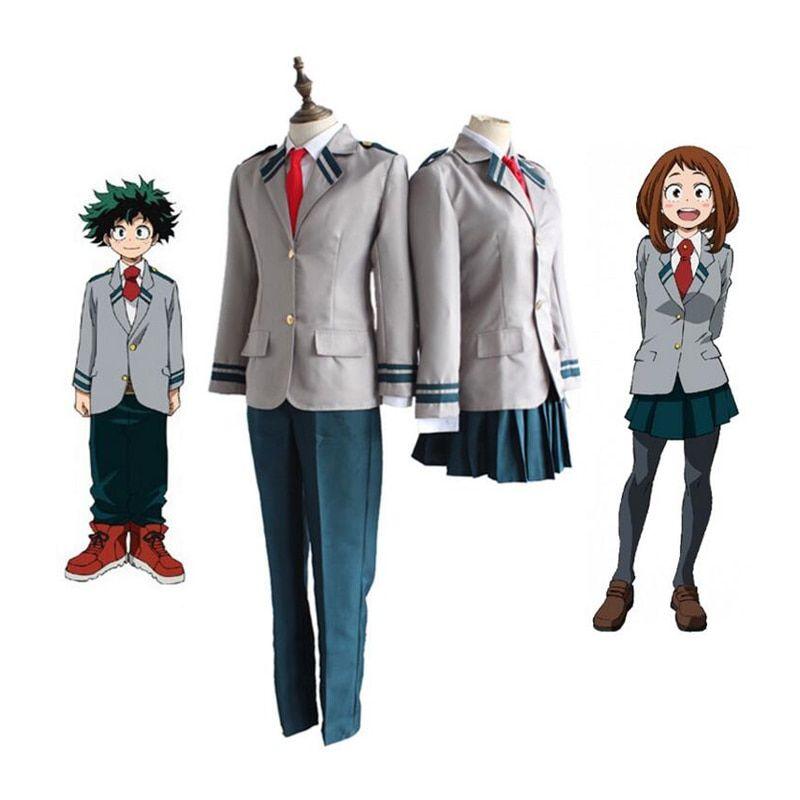 My Hero Academia Cosplay Izuku Midoriya Bakugou Katsuki OCHACO URARAKA Costumes