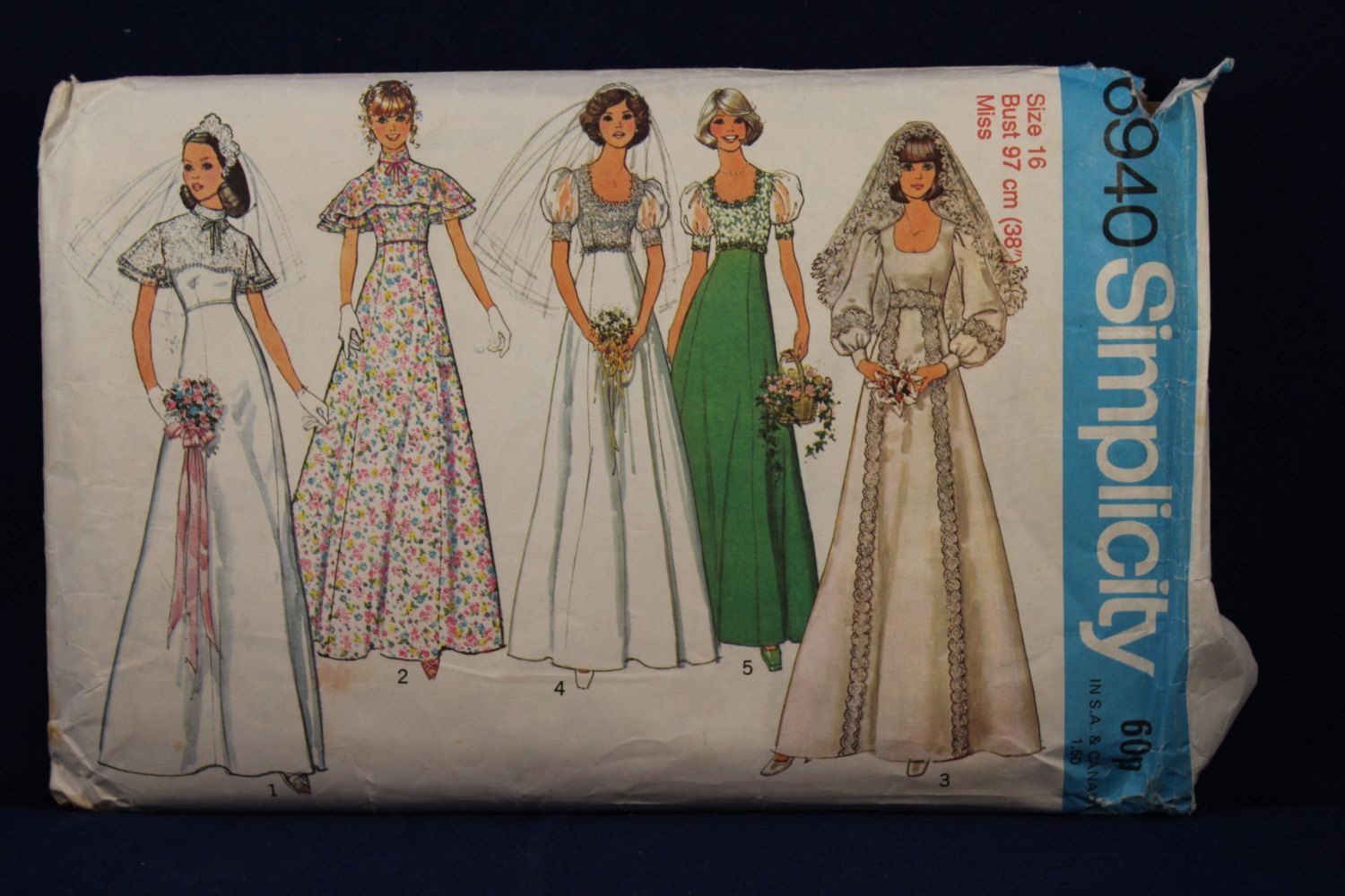 Sewing Pattern Simplicity 6940 for a Woman's 1970's