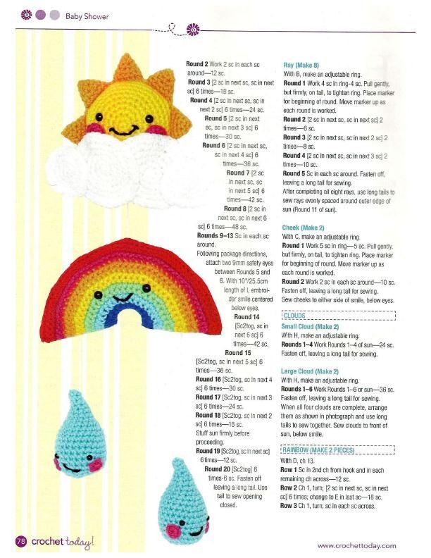 Happy Baby Mobile Crochet Pattern | Pinterest | Manualidades de ...