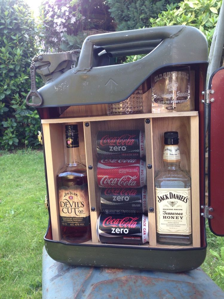 Upcycled Jerry Can Mini Bar Ideal Gift Camping - Bar Ideen