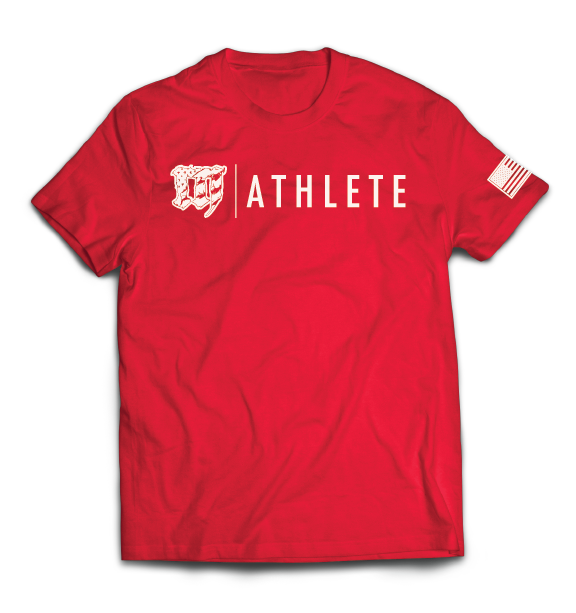 Mayhem Athlete T Shirt Red Mens Tops Mens Tshirts Athlete