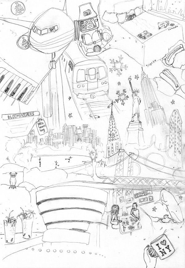 a doodle of our time in NYC, got to go back one day, amazing place