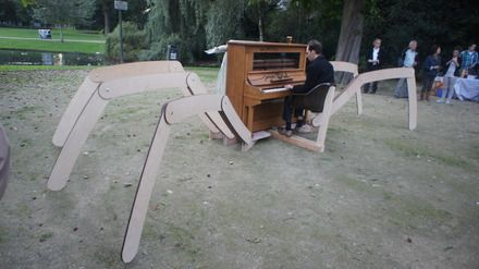 the biggest art piano in Wilhelmina Park in Tilburg NL