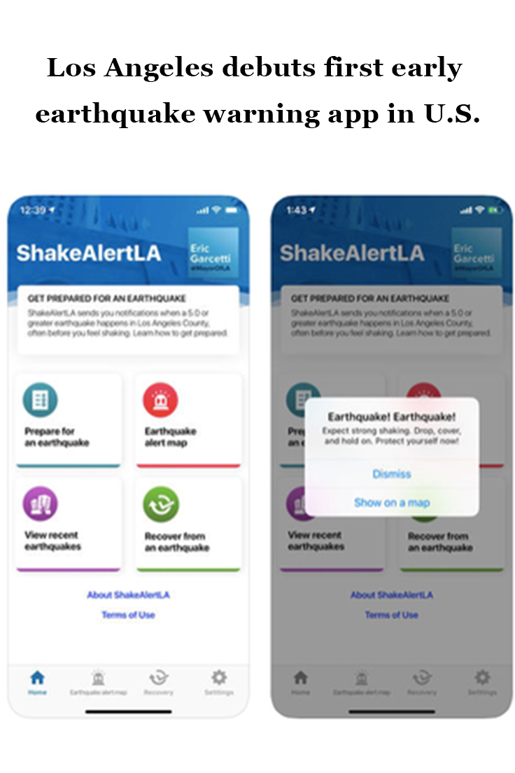 Los Angeles debuts first early earthquake warning app in U