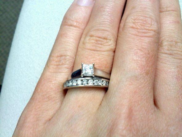 Round Diamond Engagement Ring Set With Channel Band 38