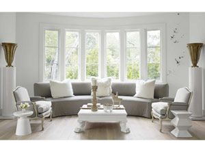 living room with bay window. An Open  Casual California Home living Northern