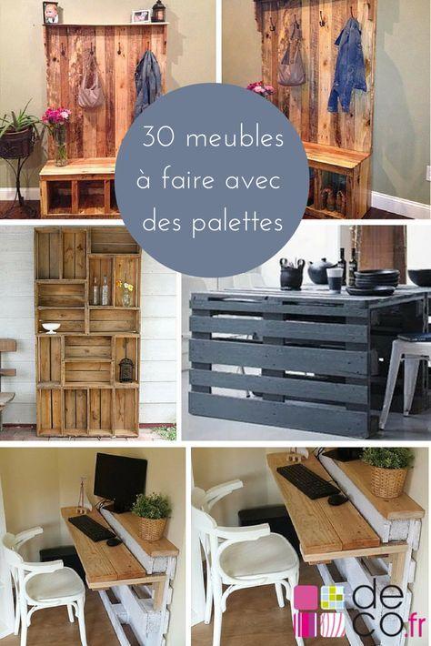 30 meubles à faire avec des palettes ! Hotmail fr, Pallets and Crates