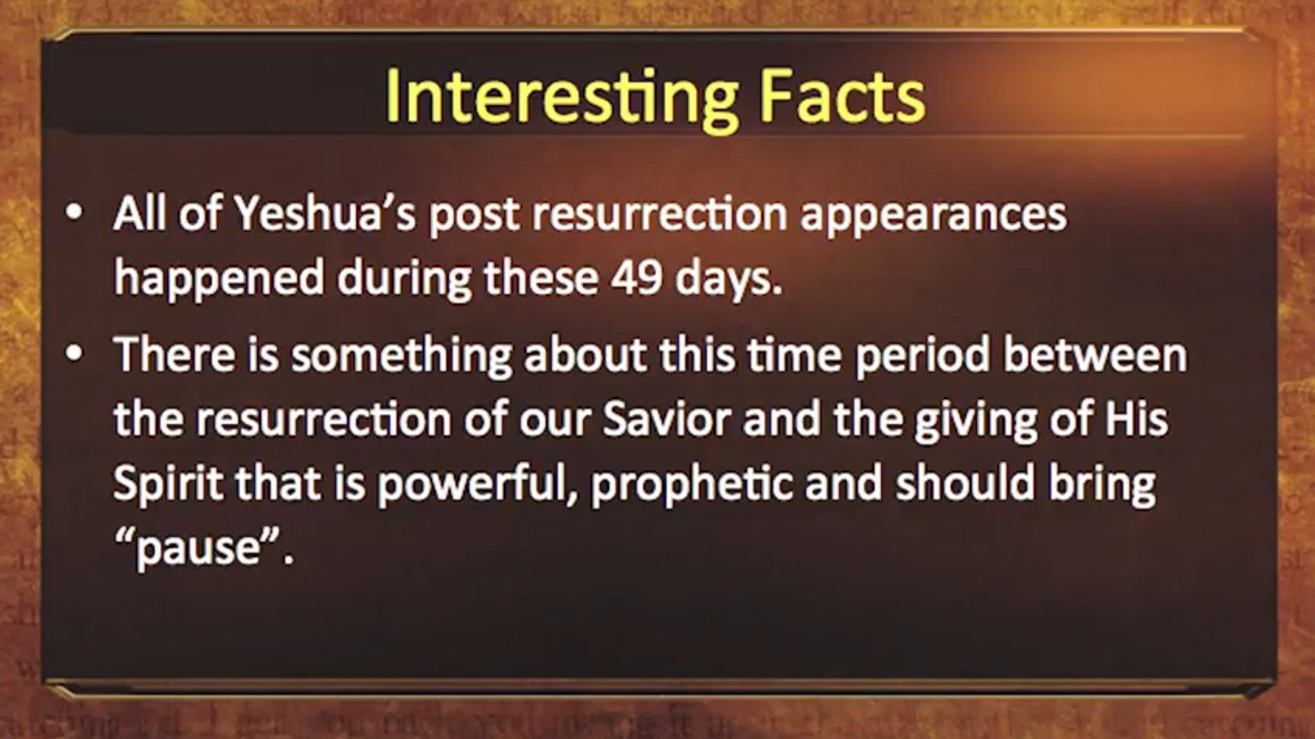 Counting Of The Omer Interesting Facts Fun Facts Messianic Judaism Facts