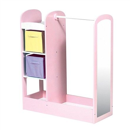 See And Store Dress Up Center Pastel Basement Playroom