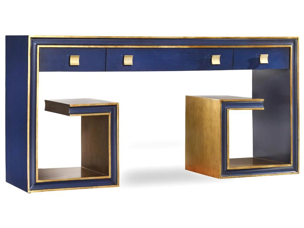 Superior Hooker Furniture Living Room Melange Greek Key Console 638 85192