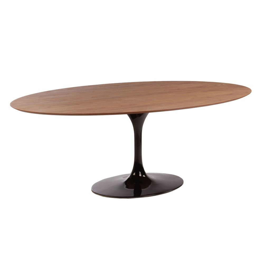 Replica Eero Saarinen Tulip Dining Table Oval Timber Matt Blatt