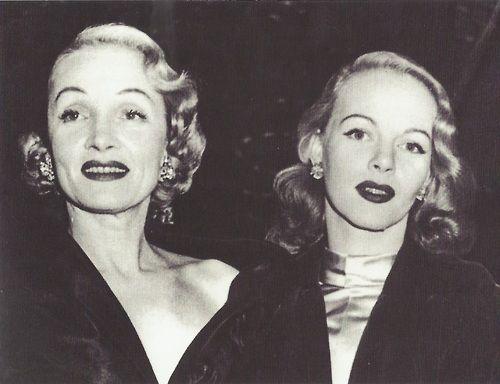 Marlène Dietrich et sa fille Maria, 1951