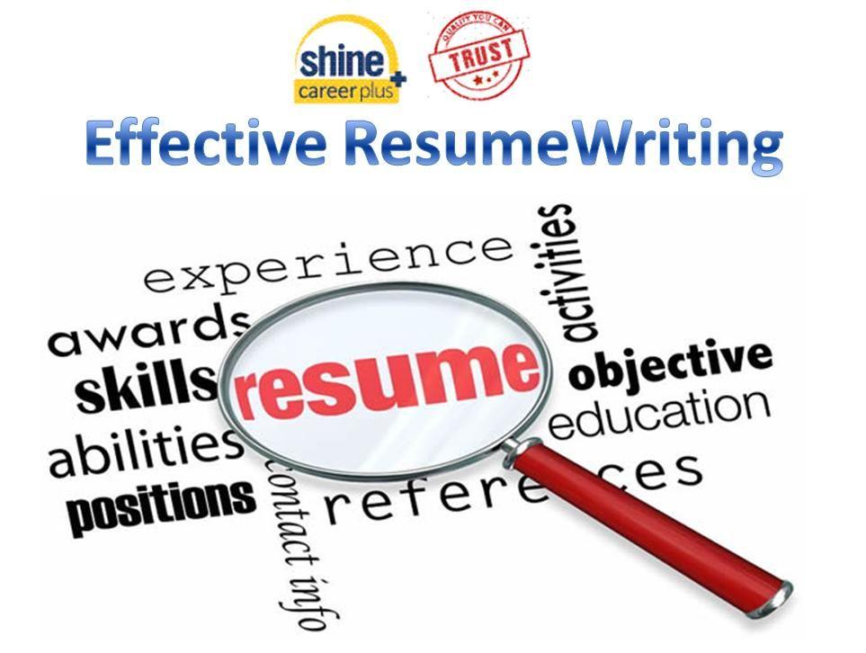 Learn to Write Resume through Resume Samples Career Plus Shine - write a resume