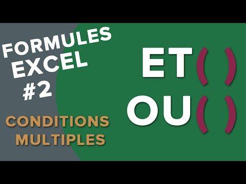 Excel: SI imbriqués (condition à 3 possibilités ou plus ...