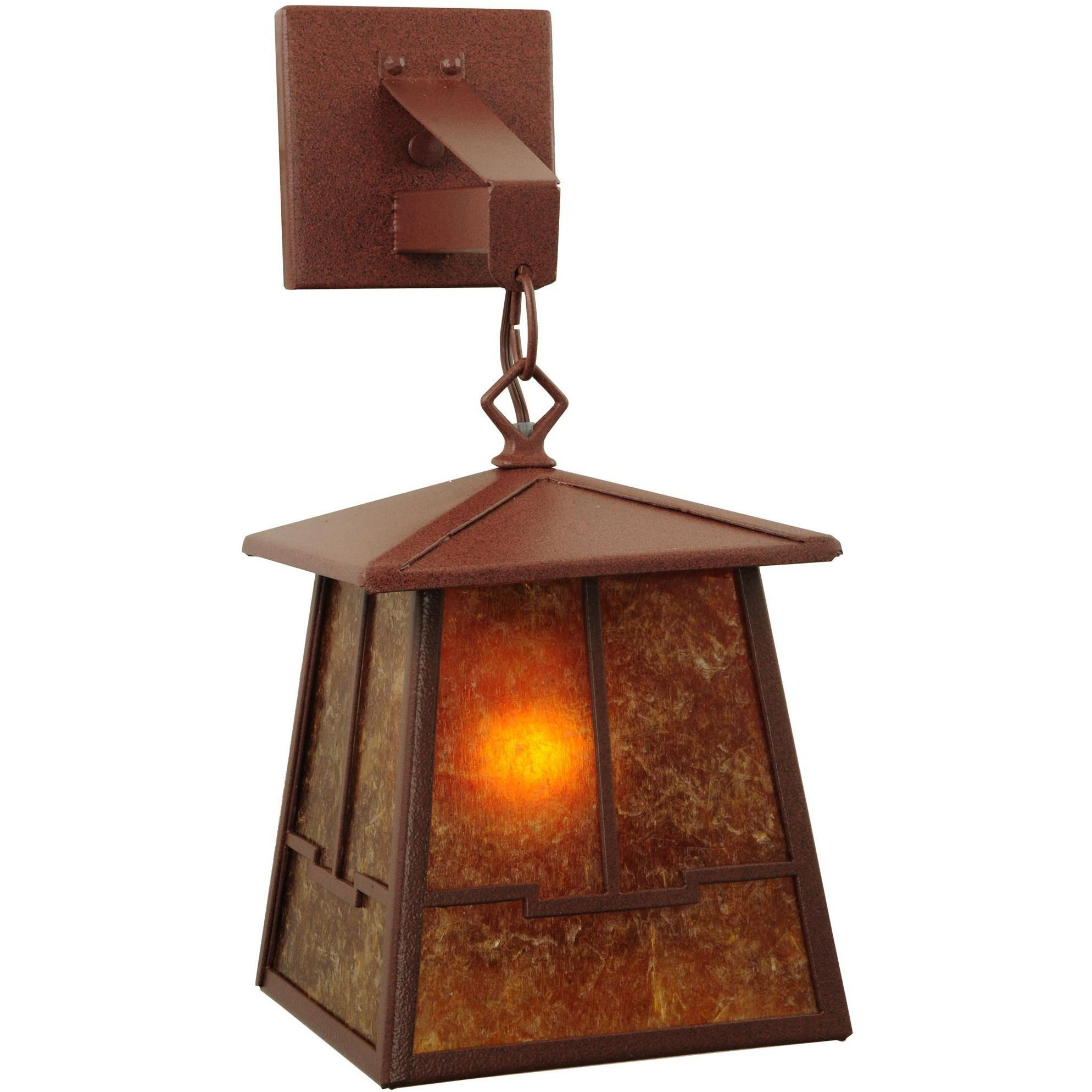 7 Inch W Bungalow Valley View Hanging Wall Sconce - Custom Made ...