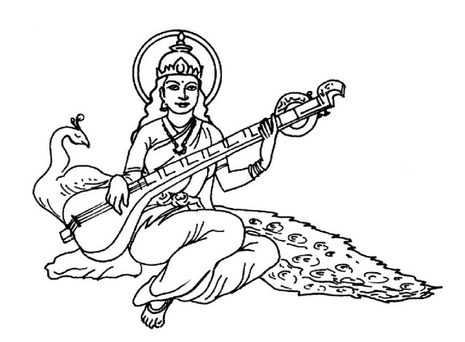How To Draw Goddess Saraswati Mata Full Body Pencil Drawing Step By Step Pencil Drawings Step By Step Drawing Drawings