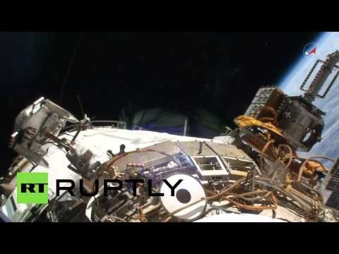 Video: Welcome to space! Russian cosmonauts conduct maintenance spacewalk outside ISS - http://www.therussophile.org/video-welcome-to-space-russian-cosmonauts-conduct-maintenance-spacewalk-outside-iss.html/