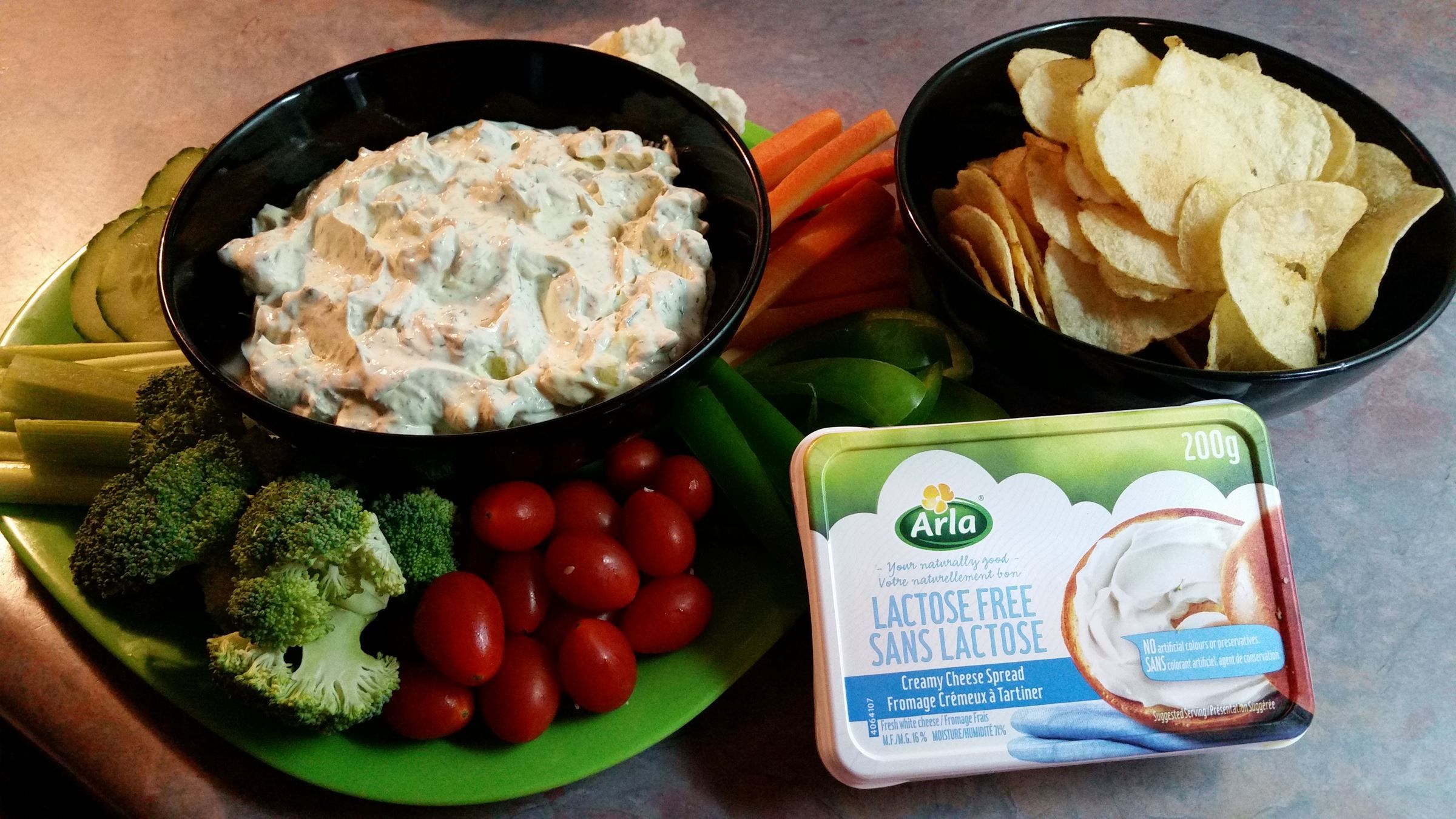 Dill pickle Dip Arla Foods dairy product provides you