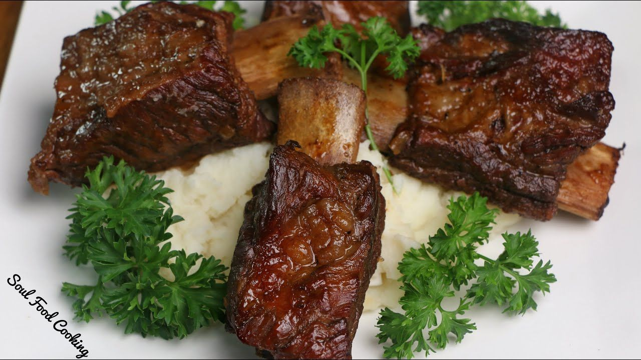 Beer Braised Beef Short Ribs   Slow Cooked Beef Short Ribs  #SoulFoodSunday