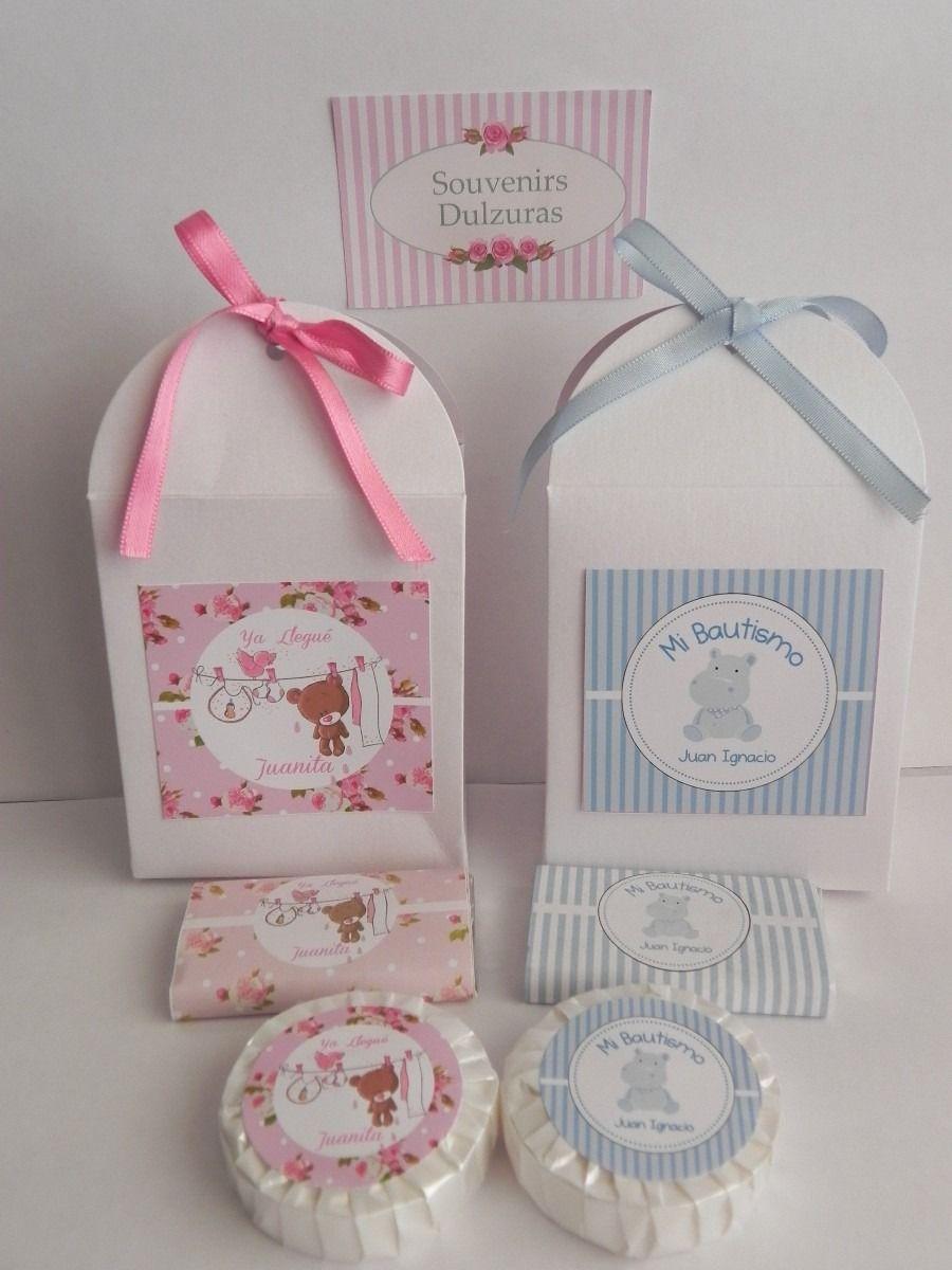 Souvenirs Bautismo Nena.Souvenirs 10 Cajas Con Jabones O Chocolatines Personalizados